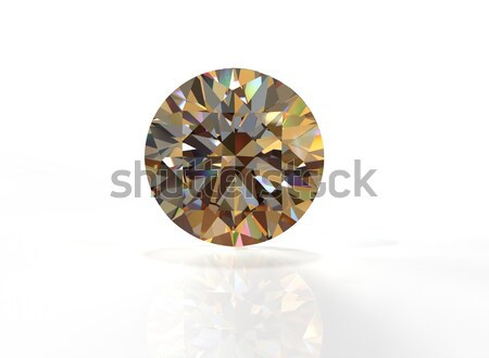 Stock photo: Round citrine