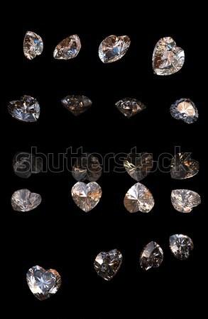 Brillante taglio diamante prospettiva nero moda Foto d'archivio © Rozaliya