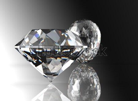 Cognac diamant isolé blanche bijoux Photo stock © Rozaliya