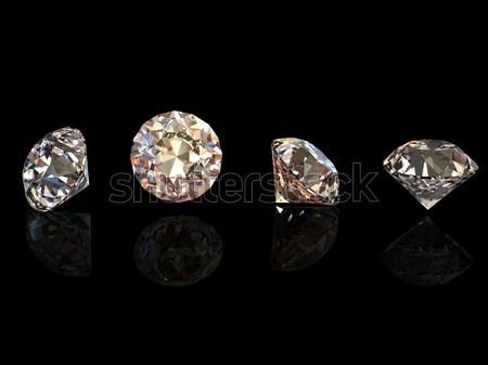 3d Round brilliant cut diamond perspective Stock photo © Rozaliya