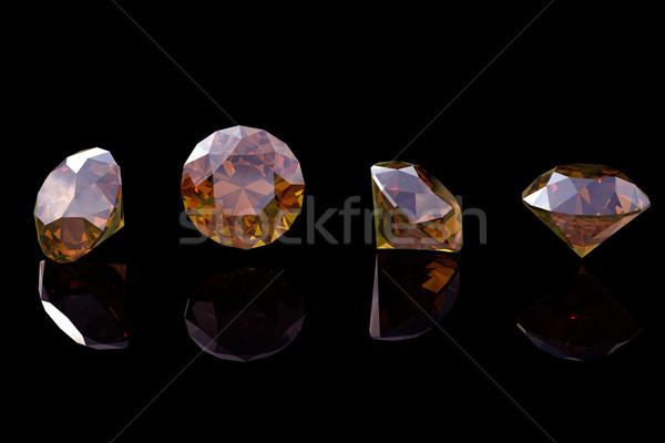Cognac diamant isolé mode bijoux bijou Photo stock © Rozaliya
