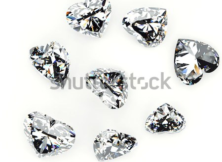 Brillante taglio diamante prospettiva isolato bianco Foto d'archivio © Rozaliya
