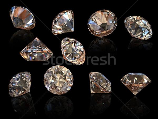 Cognac diamant isolé noir bijoux Photo stock © Rozaliya