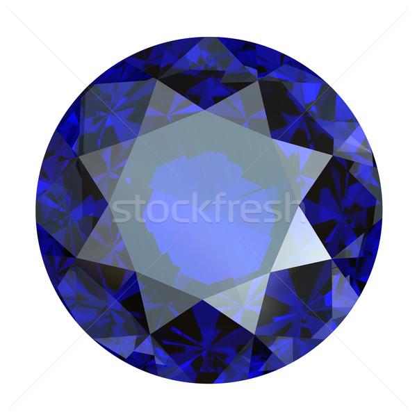 Azul safira isolado branco moda Foto stock © Rozaliya