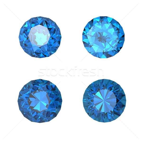 Round swiss blue topaz  Stock photo © Rozaliya