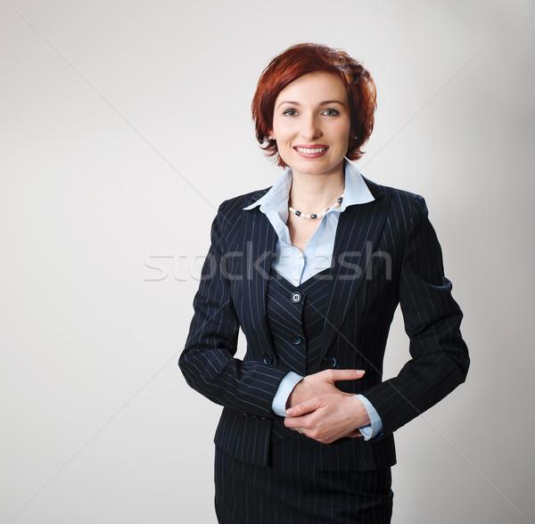 Redhead businesswoman Stock photo © rozbyshaka