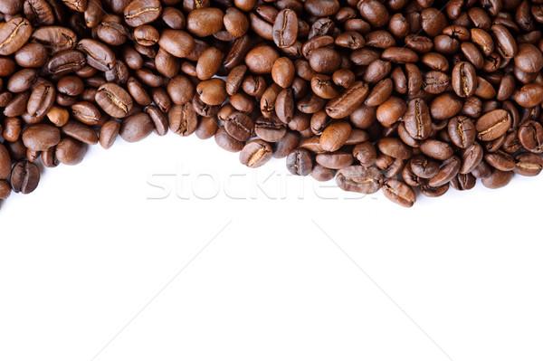 Aromático granos de café blanco naturaleza fondo espacio Foto stock © rozbyshaka