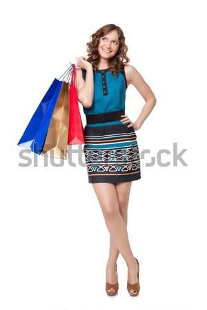Portre genç kadın beyaz kadın Stok fotoğraf © rozbyshaka