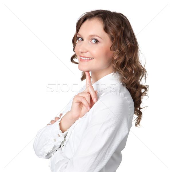 美しい 若い女性 空想 白 女性 髪 ストックフォト © rozbyshaka