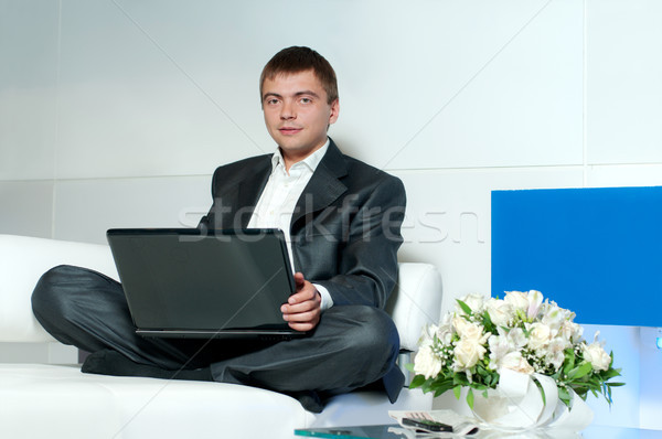 worker in office Stock photo © rozbyshaka