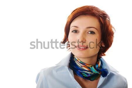 Bela mulher branco negócio menina cara mulheres Foto stock © rozbyshaka