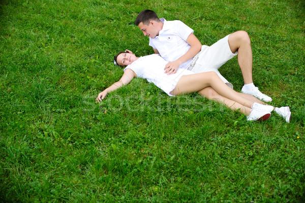 Romântico casal retrato amoroso tempo juntos Foto stock © rozbyshaka