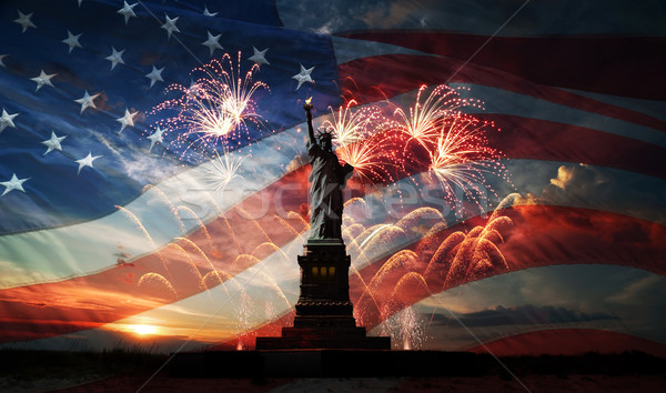 Stock photo: Independence day. Liberty enlightening the world