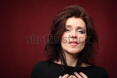 肖像 小さな 美人 かわいい 女性 赤 ストックフォト © rozbyshaka