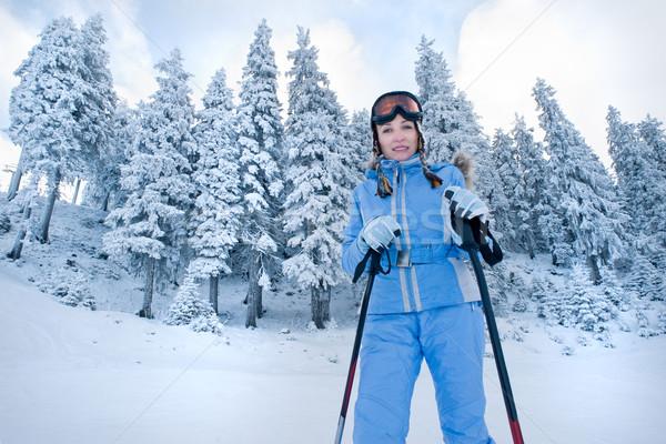 skiing Stock photo © rozbyshaka