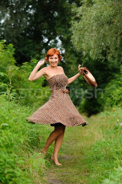 Portrait of the woman outdoors  Stock photo © rozbyshaka
