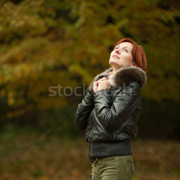 young woman portrait in autumn park  Stock photo © rozbyshaka