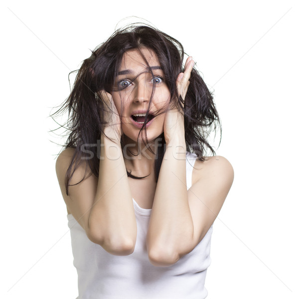 shocked woman  Stock photo © rozbyshaka
