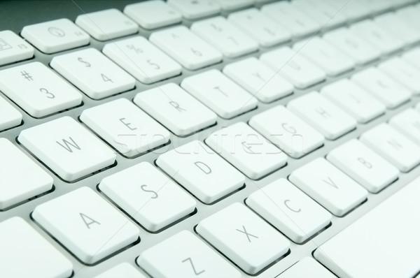 Modern billentyűzet számítógép billentyűzet qwerty közelkép iroda Stock fotó © rozbyshaka