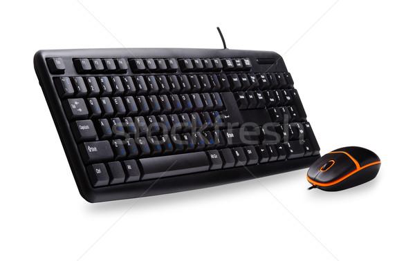 Bilgisayar klavye fare yalıtılmış beyaz iş bilgisayar Stok fotoğraf © rozbyshaka