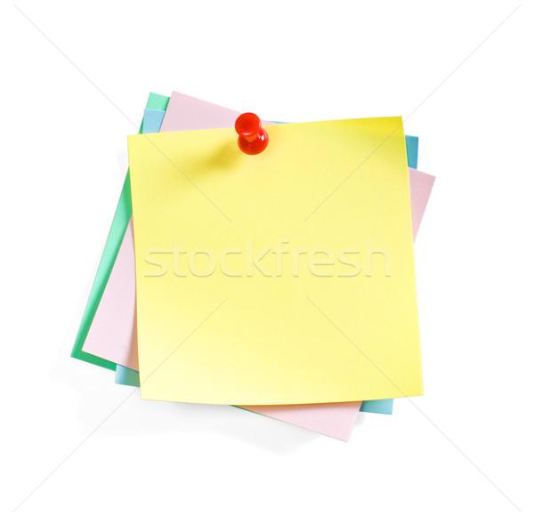 Cor notas mensagem comentar espaço comunicação Foto stock © rozbyshaka