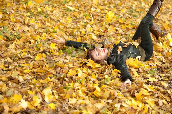 若い女性 肖像 秋 公園 女性 少女 ストックフォト © rozbyshaka