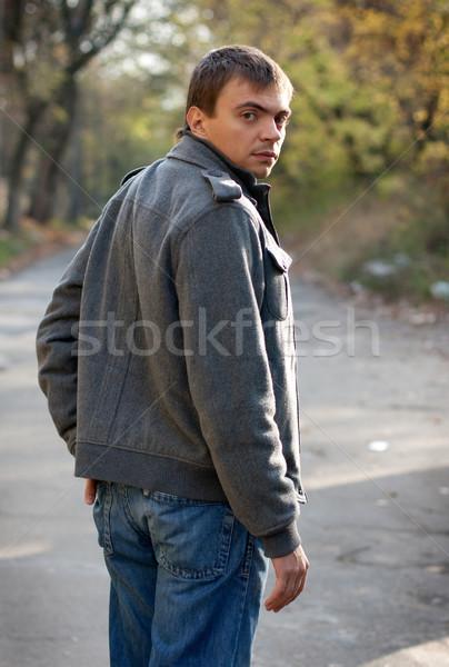 looking back Stock photo © rozbyshaka