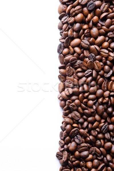Aromatico chicchi di caffè bianco natura sfondo spazio Foto d'archivio © rozbyshaka