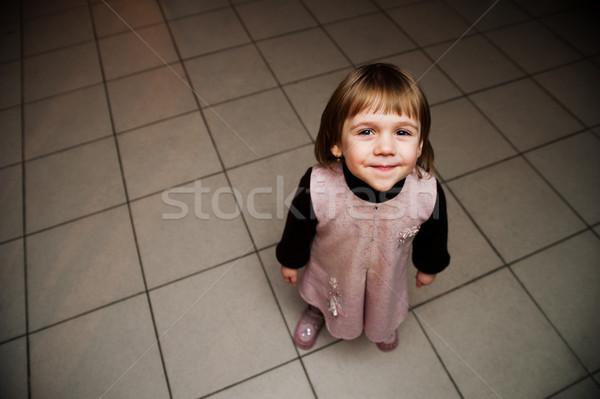 Harikalar diyarı küçük kız mutlulukla gülen zevk Stok fotoğraf © rozbyshaka