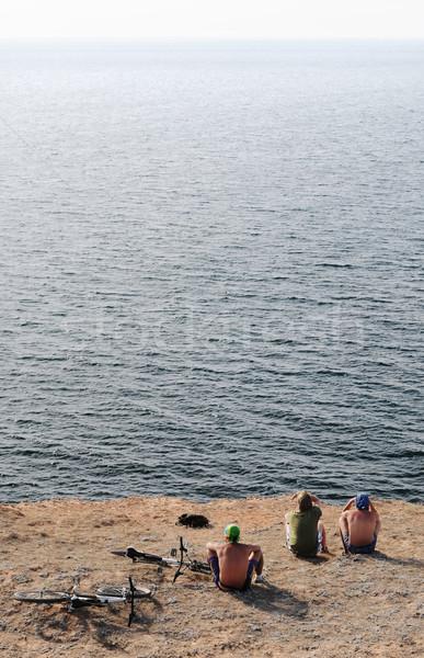 on the edge of the earth Stock photo © rozbyshaka