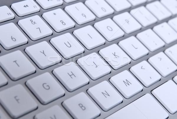 Toetsenbord moderne qwerty kantoor Stockfoto © rozbyshaka