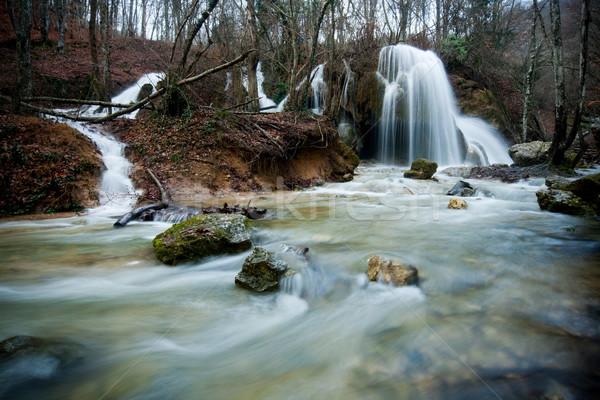 çağlayan gümüş jet hızlı nehir dere Stok fotoğraf © rozbyshaka