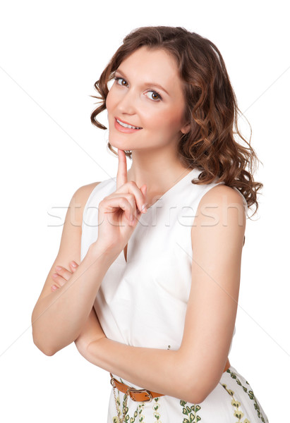 Beautiful young woman daydreaming Stock photo © rozbyshaka