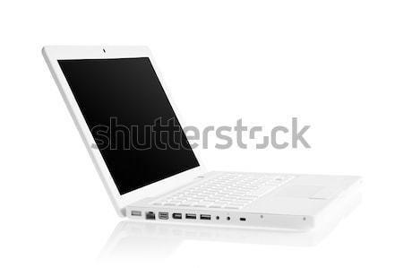 白 現代 ノートパソコン 孤立した キーボード ストックフォト © rozbyshaka