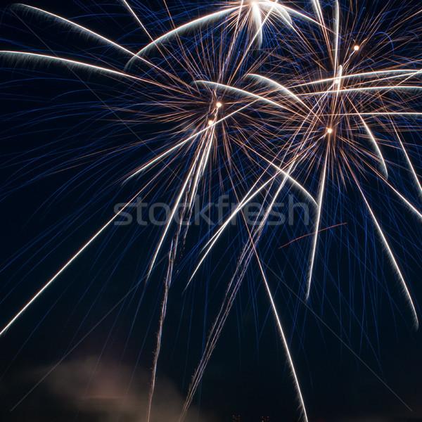 Colorful fireworks over dark sky Stock photo © rozbyshaka