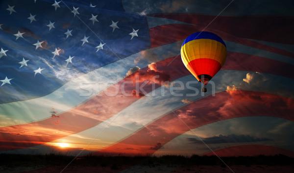 日 自由 世界 カラフル バルーン 飛行 ストックフォト © rozbyshaka