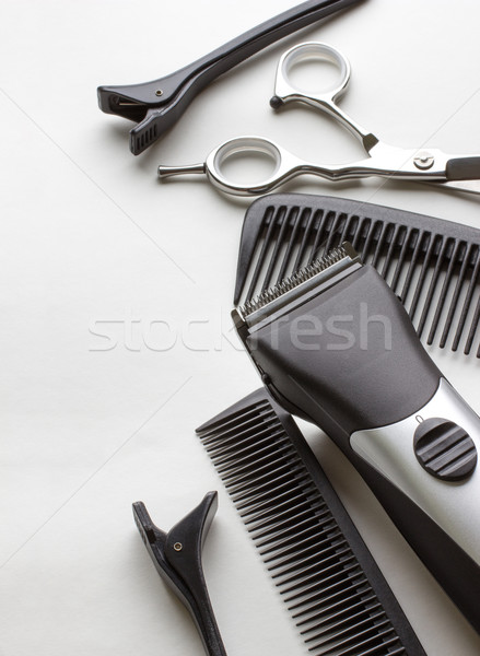 Profissional ferramentas cabeleireiro branco moda cabelo Foto stock © rozbyshaka