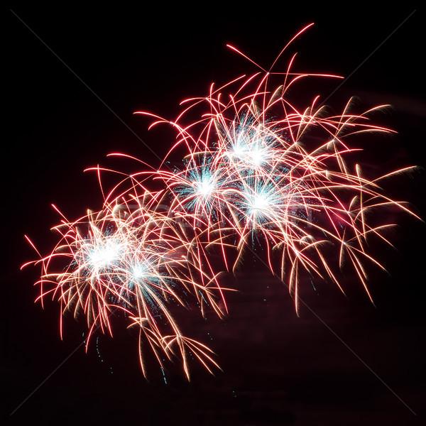 Ano novo 2012 fogos de artifício colorido cores Foto stock © rozbyshaka