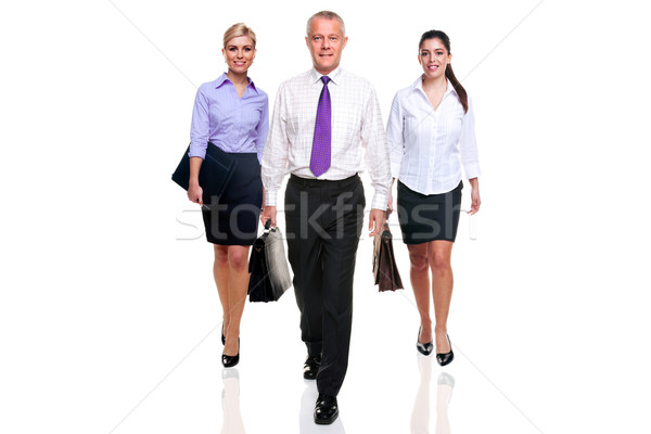 Business team three people walking Stock photo © RTimages
