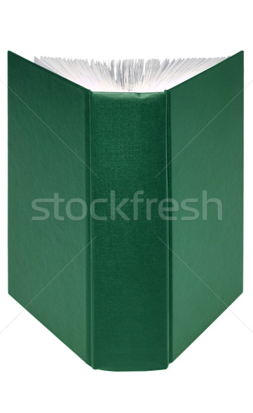 Open green book Stock photo © RTimages