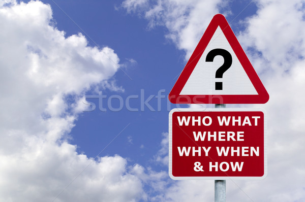 Questions signpost in the sky Stock photo © RTimages