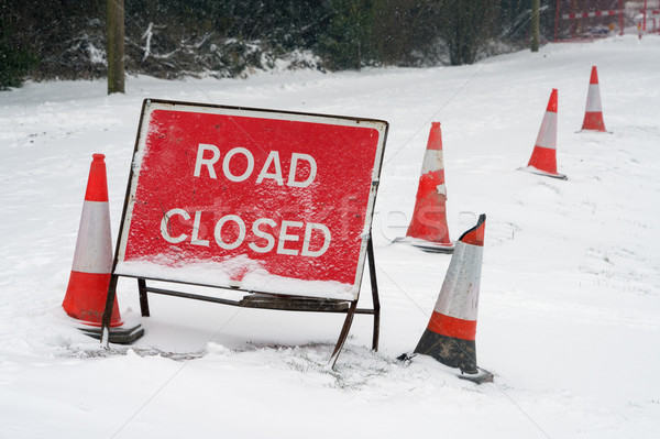 Road Closed Snow Stock photo © RTimages