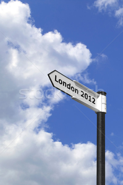 London 2012 signpost vertical Stock photo © RTimages