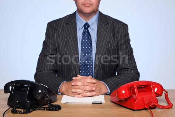 Photo stock: Affaires · bureau · deux · photo · traditionnel · une