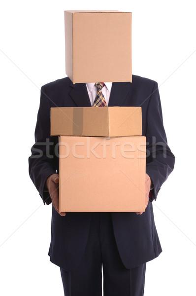 Finestra uomo consegna imprenditore testa Foto d'archivio © RTimages