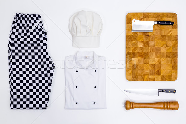 Chef whites flat lay Stock photo © RTimages