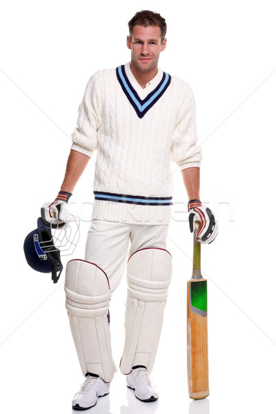 Cricketer portrait Stock photo © RTimages