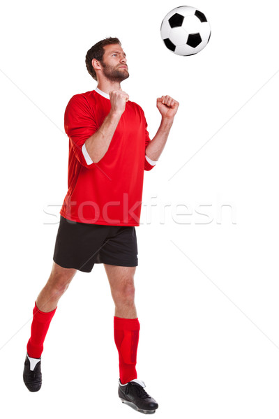 Branco foto jogador de futebol homem Foto stock © RTimages