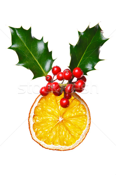 Christmas dekoracji suszy pomarańczowy Fotografia czerwony Zdjęcia stock © RTimages