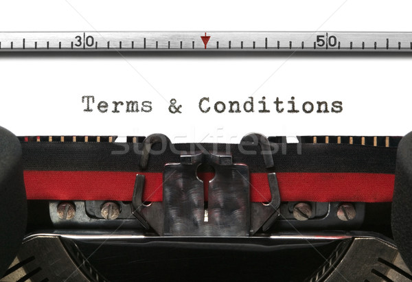 Typewriter Terms & Conditions Stock photo © RTimages